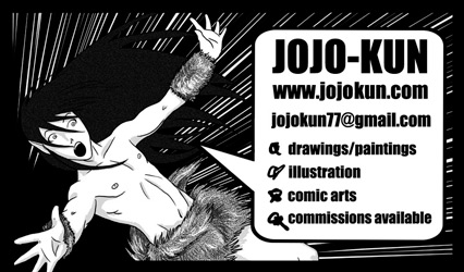 jojo-kun business card for contact email